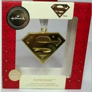 Hallmark Superman Gold DC Holiday ornament